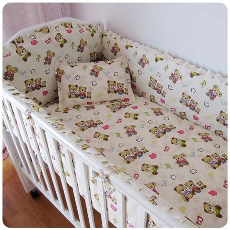 crib bedding sets 100 promotion 6pcs baby bedding set 100 cotton curtain crib bumper bumpers sheet pillow