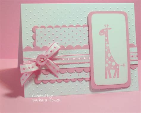 Handmade Baby Cards - handmade card for a baby white and pink