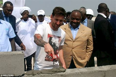 messi tattoo sword lionel messi accused of receiving 163 2 4m to lay stone in