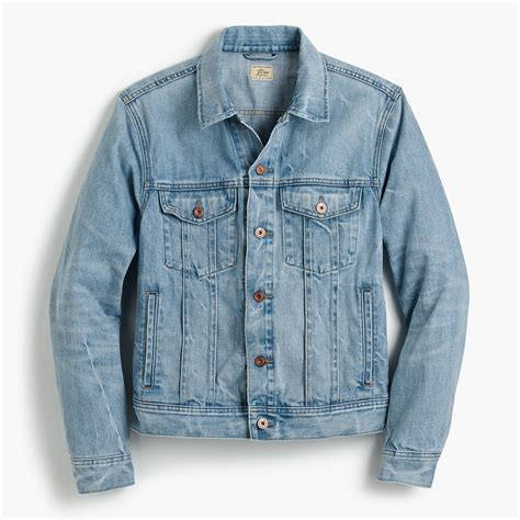 Mens Light Wash Denim Jacket by Denim Jacket In Light Wash Lightweight Jackets J Crew