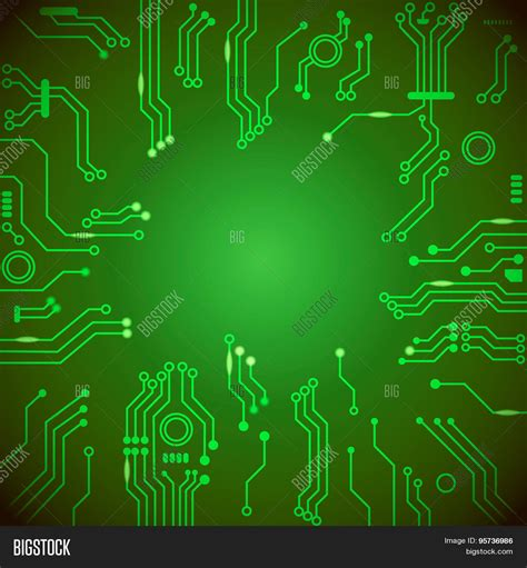 circuit board background protium design circuit board green vector vector photo bigstock