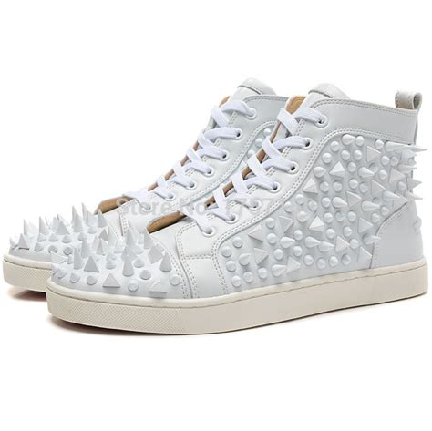 best all white sneakers 2015 bottom shoes with spikes mens flat high top