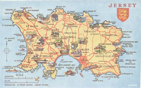Bed Frames Jersey Channel Islands Vintage Map J E R S E Y My Island