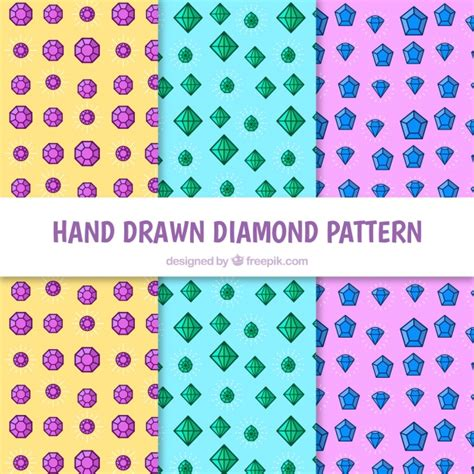 diamond pattern vector ai variety of hand drawn diamond patterns vector free download