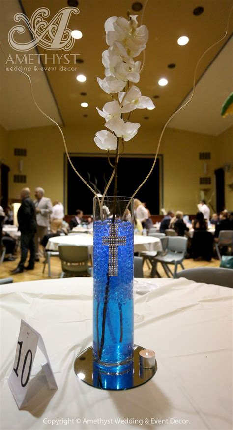 17 Best Images About Baptism On Pinterest Baby Shower Baptism Centerpieces For Boy