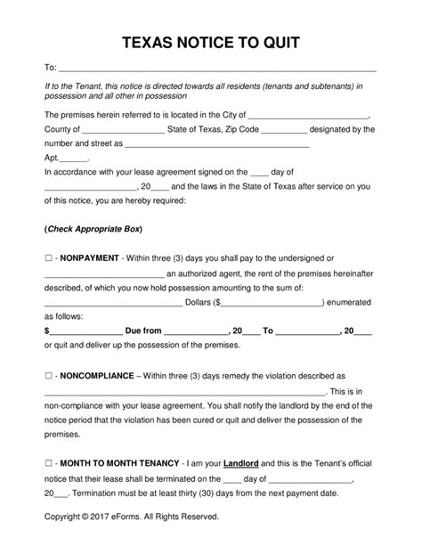 printable eviction notice texas free texas eviction notice forms process and laws pdf
