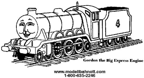 gordon the colouring pages