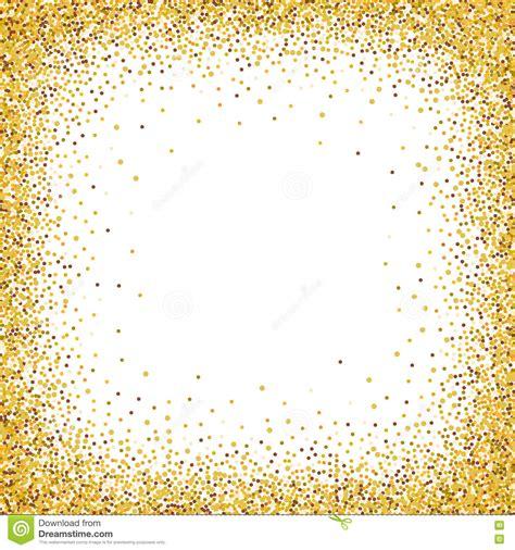 glitter template gold glitter confetti frame for festive greeting card