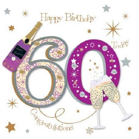 60th Birthday Card Greetings Happy 60th Birthday Greeting Card By Talking Pictures