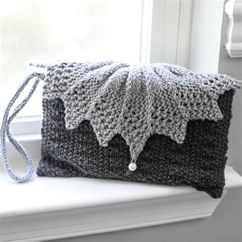 knitted clutch bag loom knit clutch purse evening bag wristlet patterns 2