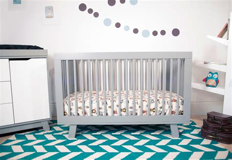 hudson 3 in 1 convertible crib with toddler rail in grey