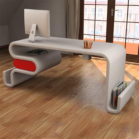 scrivanie moderne design scrivania design flex forma ondulata con cassetto laterale