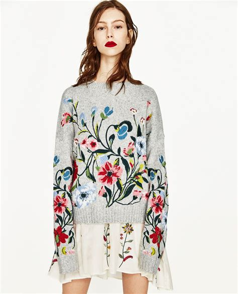 jersey bordado flores ss 17 embroidered flowers and ss