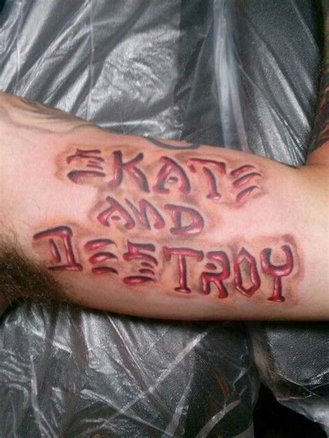 skate and destroy tattoo me thrasher skate and thrasher skate and destroy