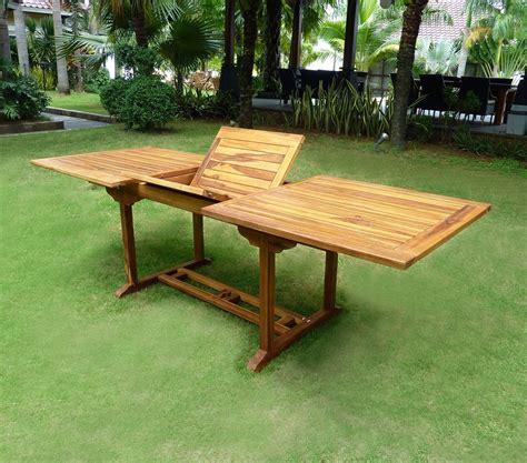 table de jardin en teck soldes