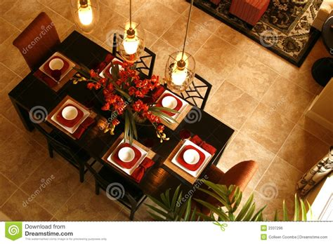 Floral Centerpieces For Dining Room Tables by Dining Table From Above Royalty Free Stock Image Image