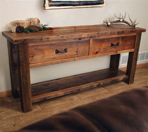 sofa table with storage rustic sofa table with storage rustic console table with