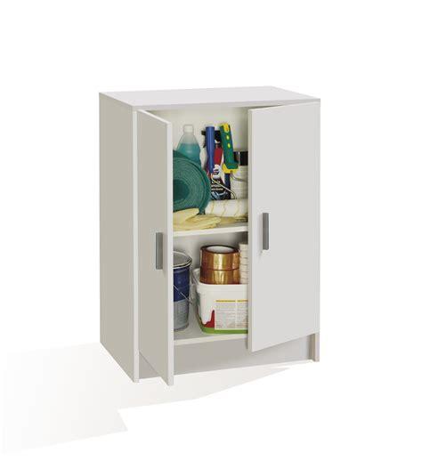 armario multiusos bajo en color blanco