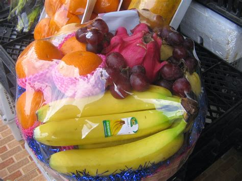 Keranjang Parcel Plastik parcel buah kecil toko buah bandung