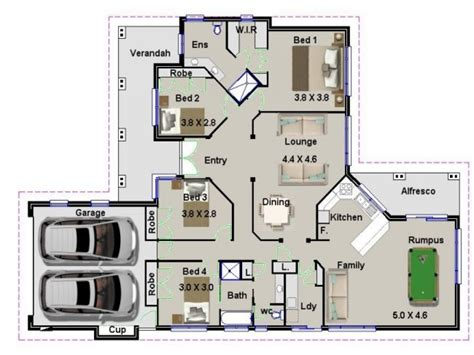 house floor plan ideas 4 bedroom house plans australia modern house plan
