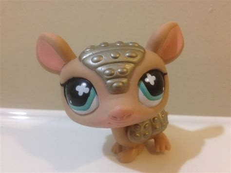 Armadillo Pet Pet Pet Product by Littlest Pet Shop 638 Bronze Shimmer Armadillo Ebay