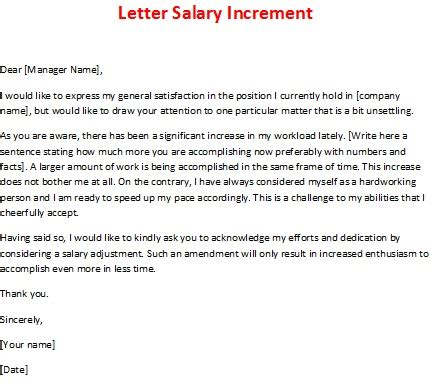 Appraisal Letter Format For Salary Increment February 2013