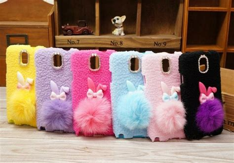 Fluffy Phone Samsung Galaxy S4 Black galaxy note 3 fluffy bunny cell phone cases