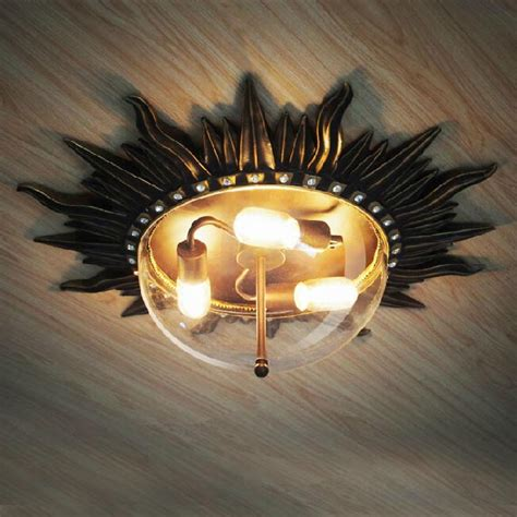 sun ceiling l antuique sun ceiling lighting or wall sconce 11912