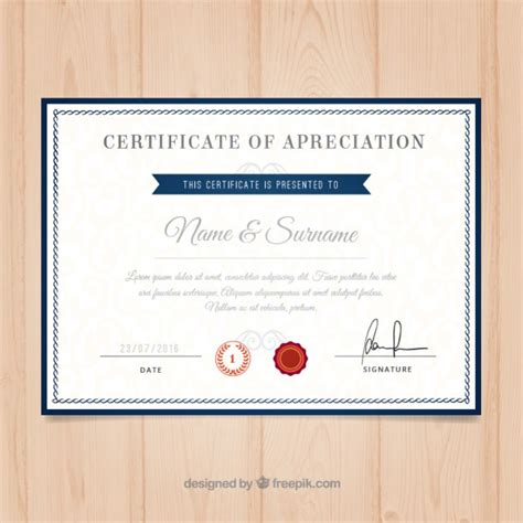 college certificate template certificate border vectors photos and psd files free