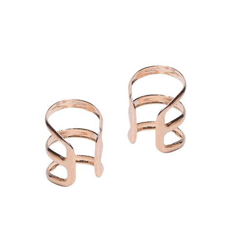 U Shape Earring hollow u shaped clip on earrings earcuff