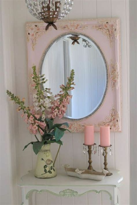Spiegel Für Toilette rosa k 252 che vintage