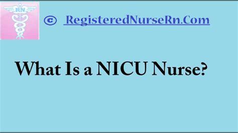 nicu nursing neonatal intensive care unit nursing salary and description