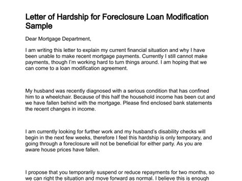 Letter To The Bank For Loan Modification letter of hardship beneficialholdings info