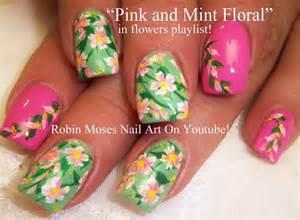 Flower nails pastel flowers nail art design tutorial youtube