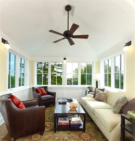 3 Season Room Decorating Ideas by Four Square Craftsman Sunroom Dc Metro By