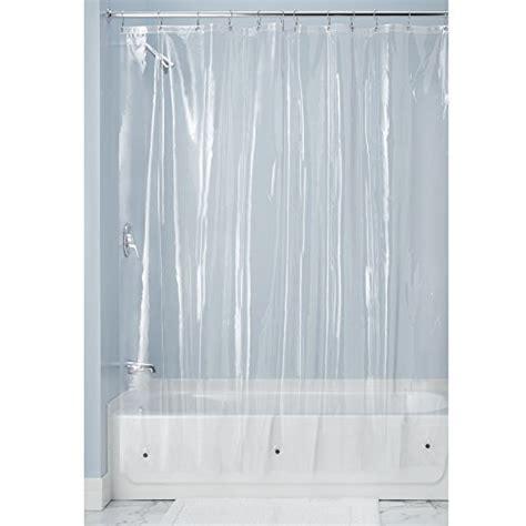 heavy duty clear vinyl shower curtains mdesign 10 gauge heavy duty vinyl shower curtain liner