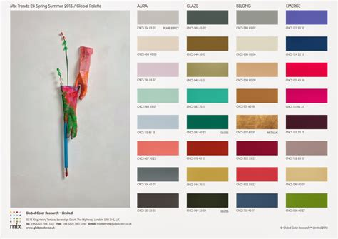 color trend fashion vignette trends global color research spring
