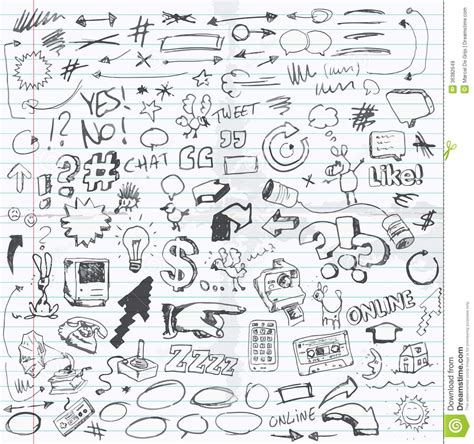doodle drawing images doodles royalty free stock images image 36382649