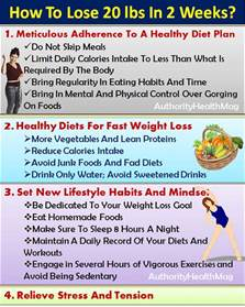 how to lose 20 pounds in 2 weeks 4 tips diet plan