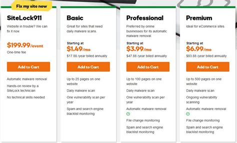 godaddy plans godaddy sitelock website security review
