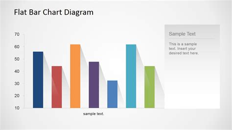 Flat Bar Chart Diagram For Powerpoint Slidemodel Powerpoint Chart Design
