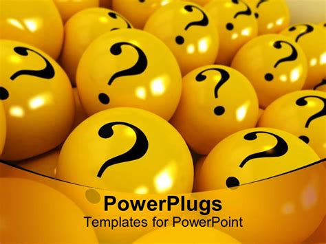 question mark templates for powerpoint powerpoint template yellow spheres with black question