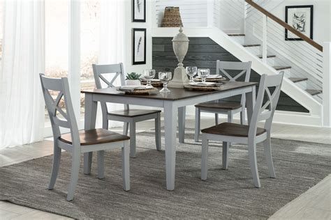 intercon furniture small space  piece fixed top dining room set  cherry gray  dining