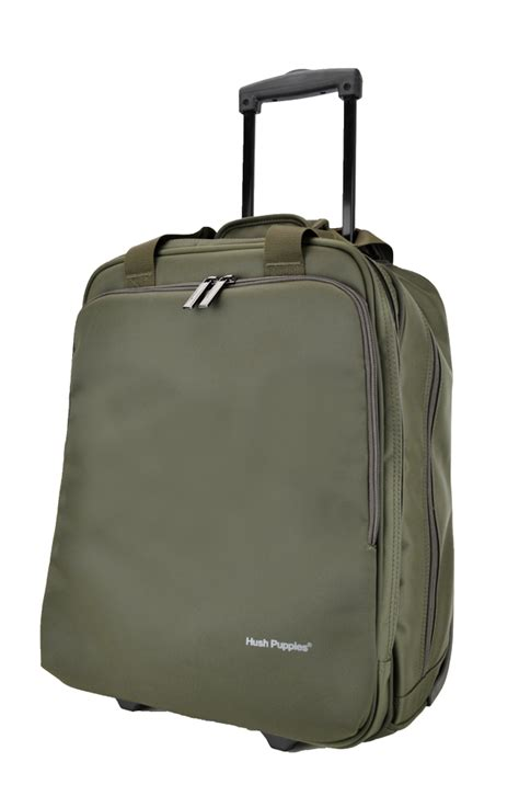 Tas Laptop Hush Puppies hush puppies 693307 document bag with trolley 16 5 inch khaki