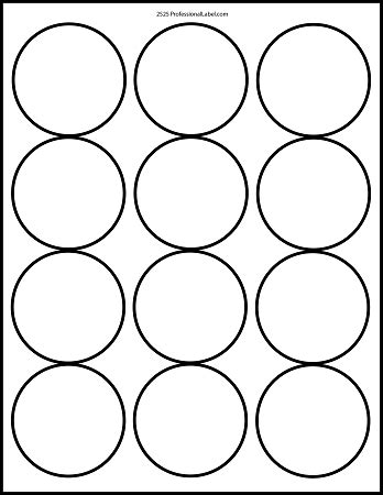 printable round stickers sheet matte white printable sticker labels 100 sheets 2 5 inch