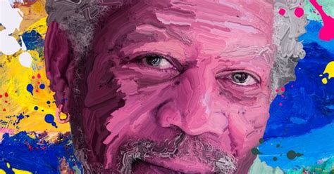 tutorial smudge painting photoshop hard smudge paint effect morgan freeman photoshop