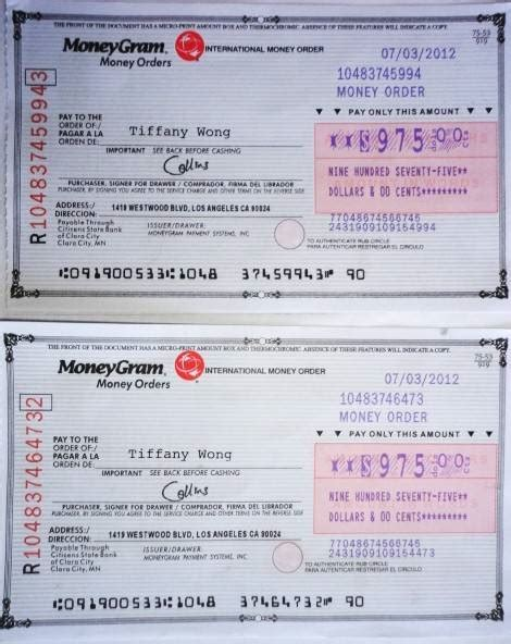 moneygram money order receipt template moneygram money order scam pictures to pin on