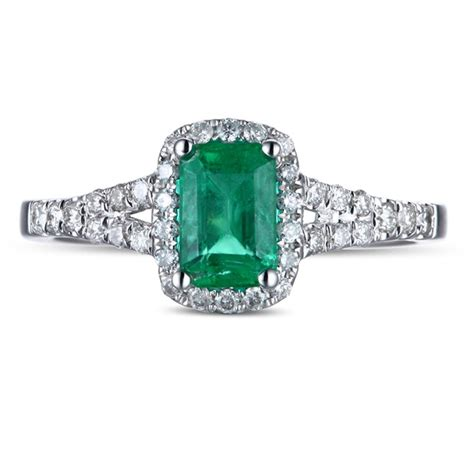 1 50 carat emerald and halo engagement ring in