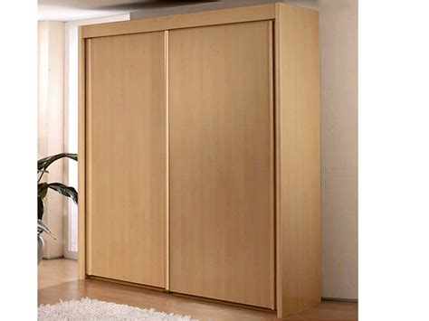 Sliding Door Armoire Wardrobe New York 2 Door Sliding Door Wardrobe In Beech Warehouse