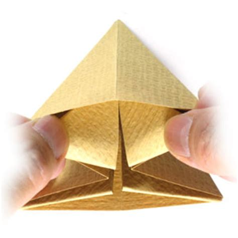 Origami Pyramid Easy - how to make a simple origami pyramid page 5
